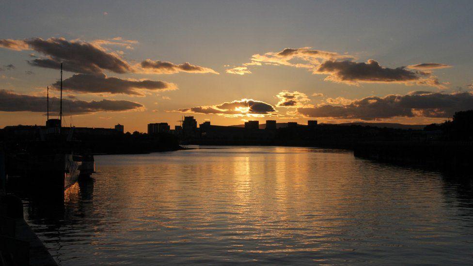 Sunset over Glasgow