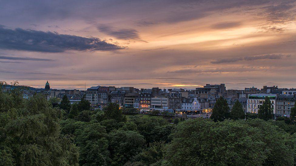 Sunset over Princes Street