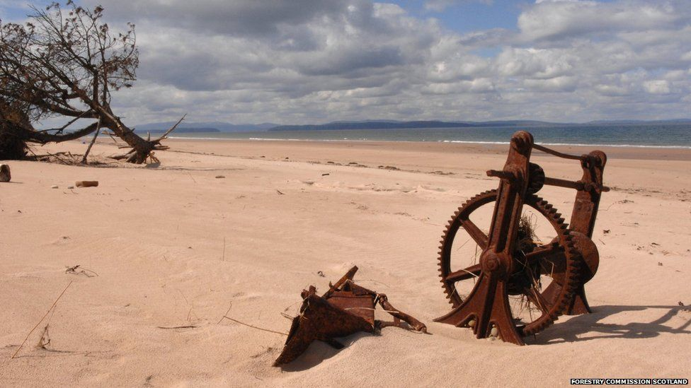 Remains of a winch at Culbin