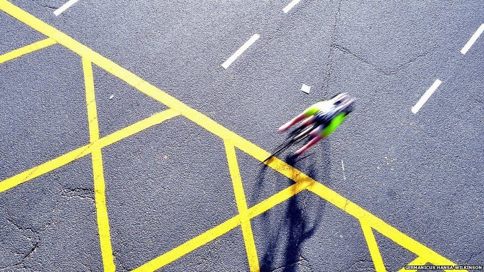 Cyclist at Vauxhall Cross