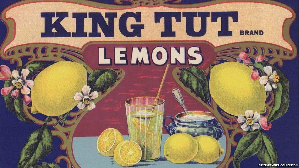 Advertisement for the Johnston Fruit Company, California, for 'King Tut' Brand Lemons, 1920s
