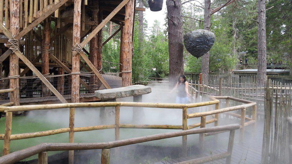 Sweta in Landmark Forest Adventure Park