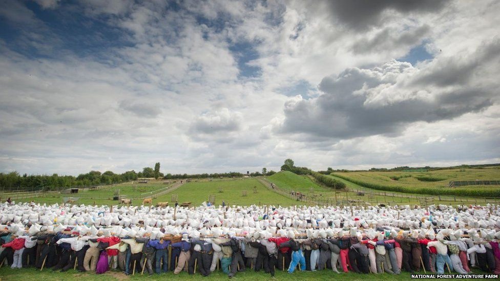 Farm bosses in Staffordshire believe they have exceeded the previous record of 3,311 set in Cincinnati, USA.