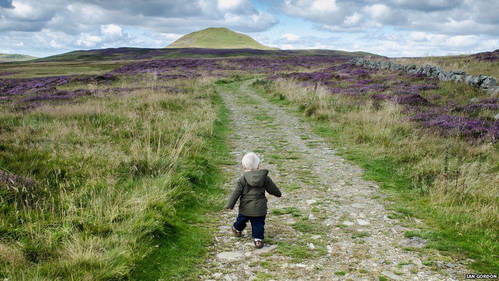 Boy in hills