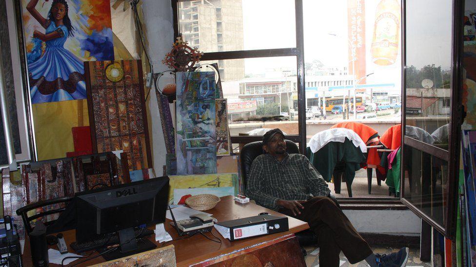 Makush owner Tesfaye Hiwet in Addis Ababa, Ethiopia