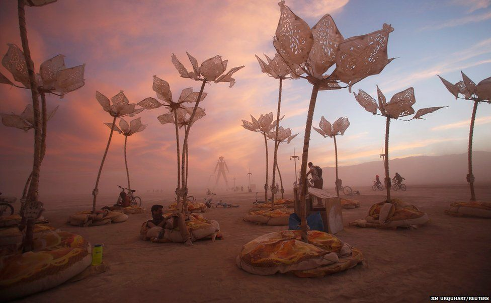 The art installation Pulse and Bloom is seen at the Burning Man arts and music festival