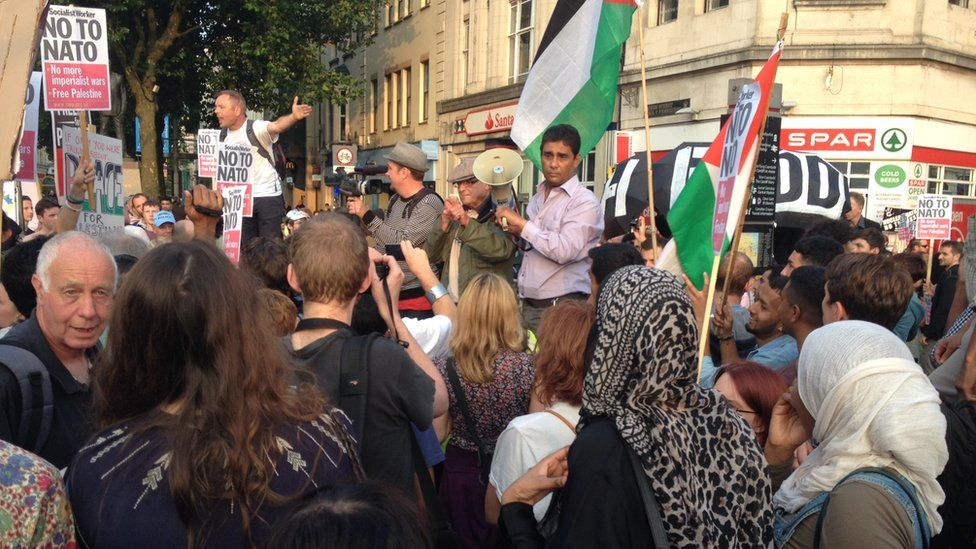 Protest Caerdydd