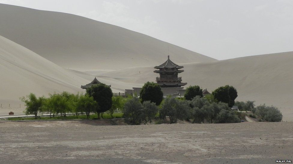 Gobi Desert in China.