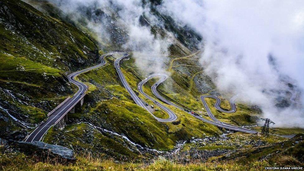 The Transfagarasan mountain road in Transylvania, Romania