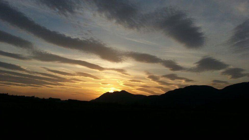 Sunset over the Ochil Hills