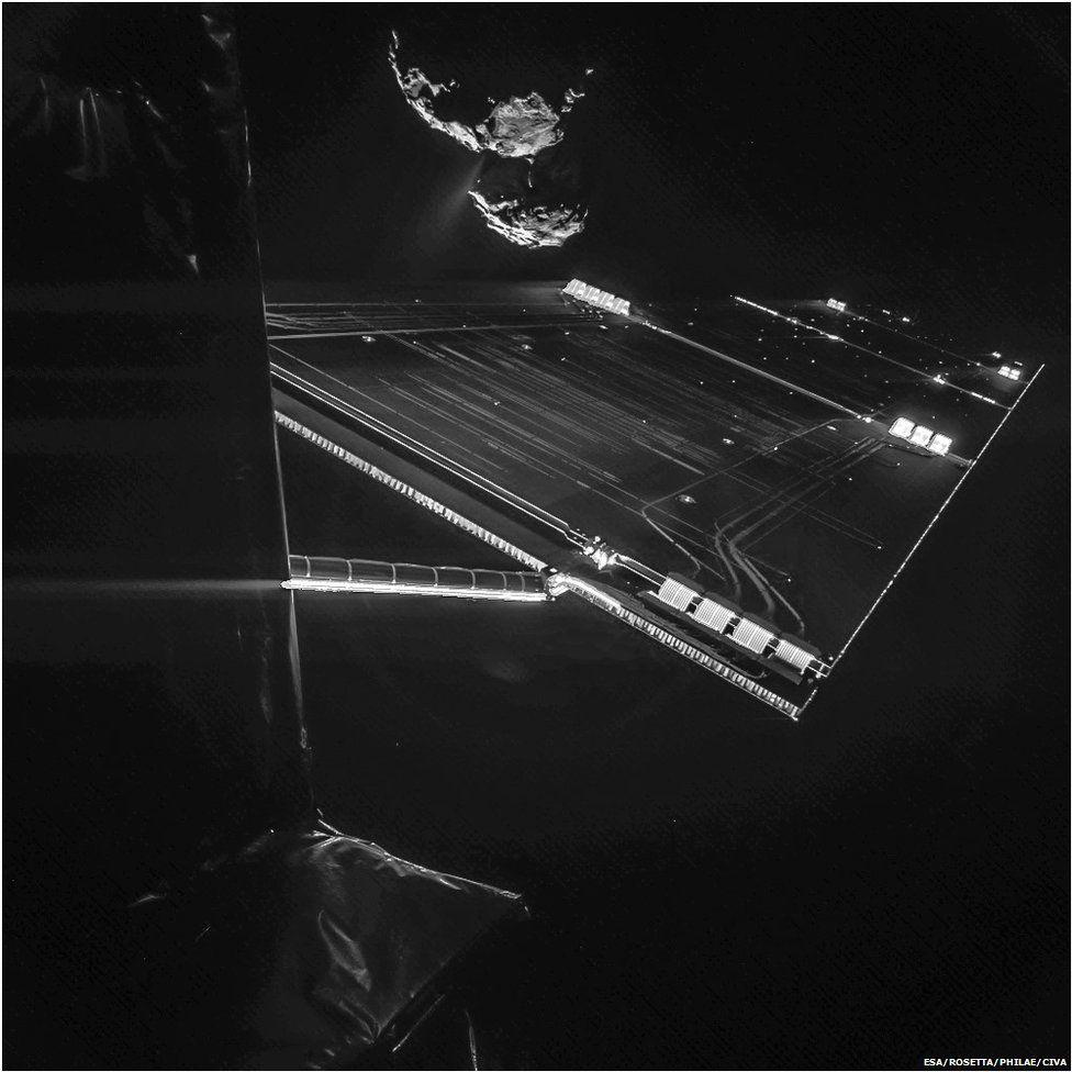 Rosetta mission: Philae comet lander pictures its target