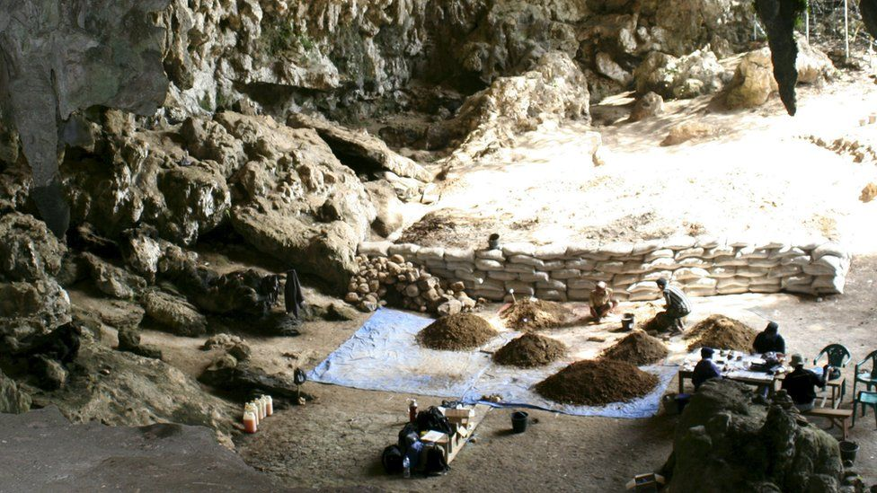 Liang Bua cave in Flores Indonesia.
