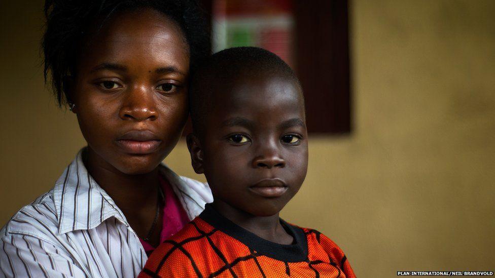 John, five, and his sister Siah, 16