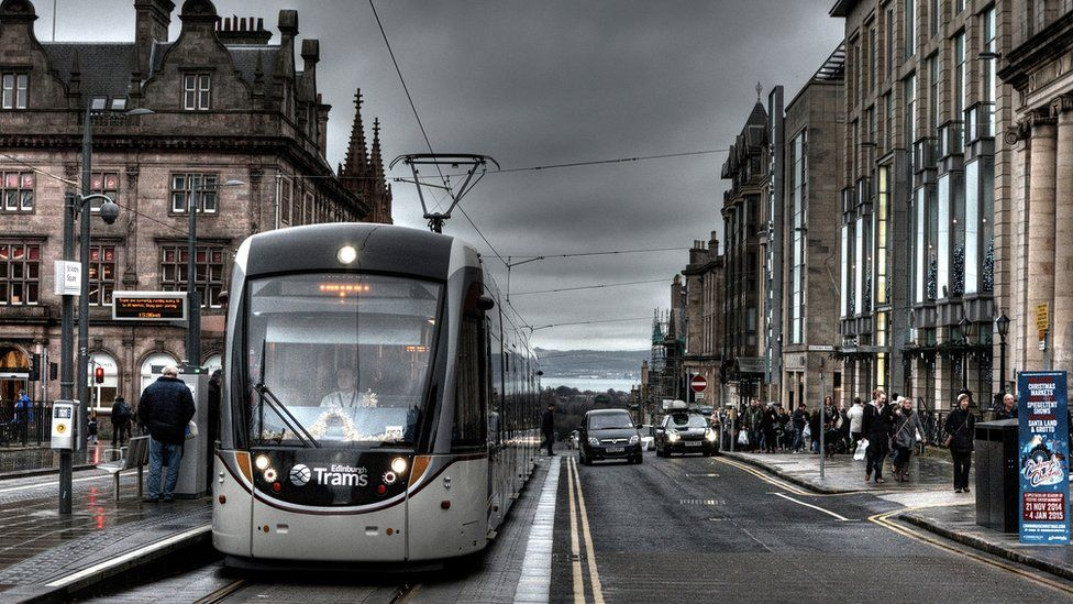 Wull Taylor from Pencaitland in East Lothian says he was out Christmas shopping with his daughter and could not resist taking this photo of an Edinburgh Tram on a dreich day in St Andrew Square