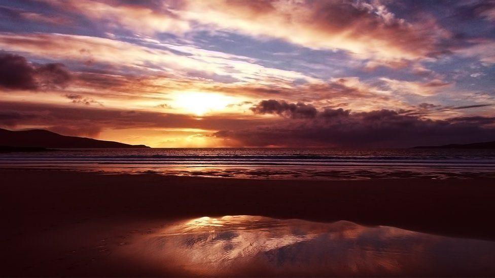 A Harris sunset from Bill McKelvie