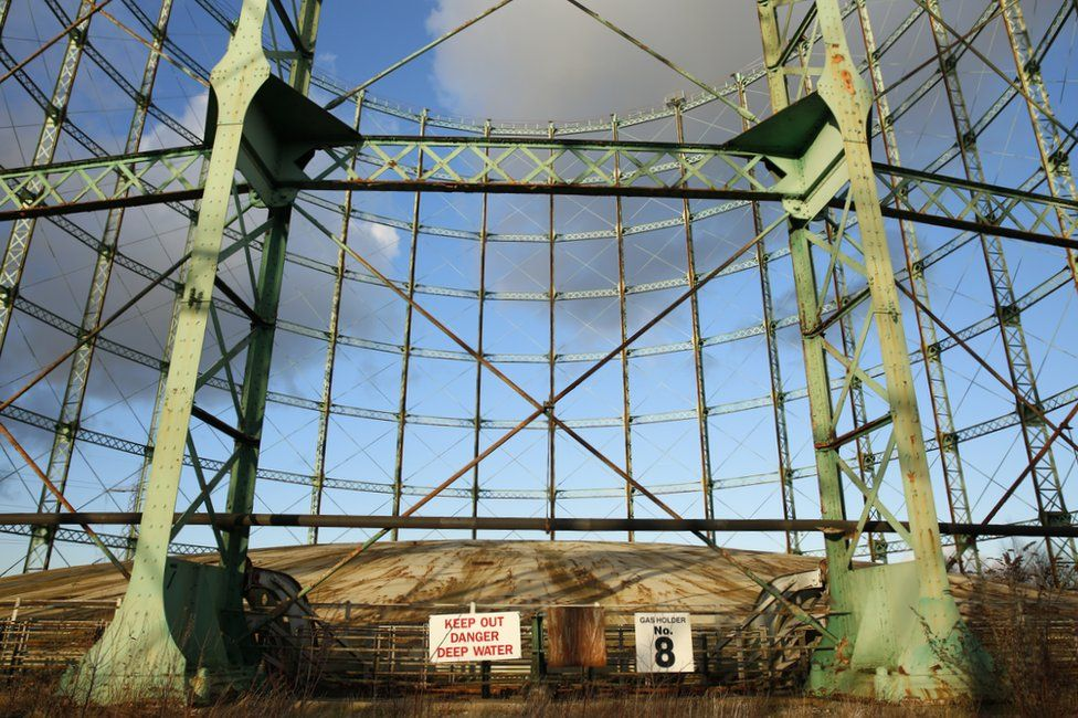 Gas Holder Number Eight at Washwood Heath in Birmingham