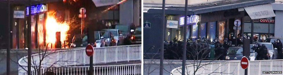 Police storm kosher supermarket in Paris