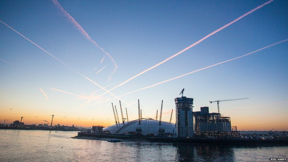 The O2 and River Thames