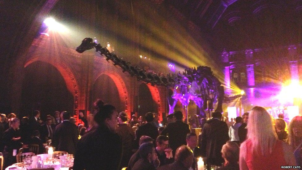Dippy in the middle of a gala dinner, 2013. Photo by Robert Cato