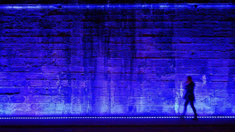 Wall illuminated