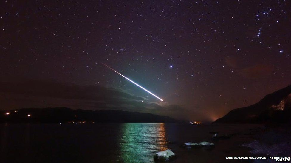 Meteor from Loch Ness