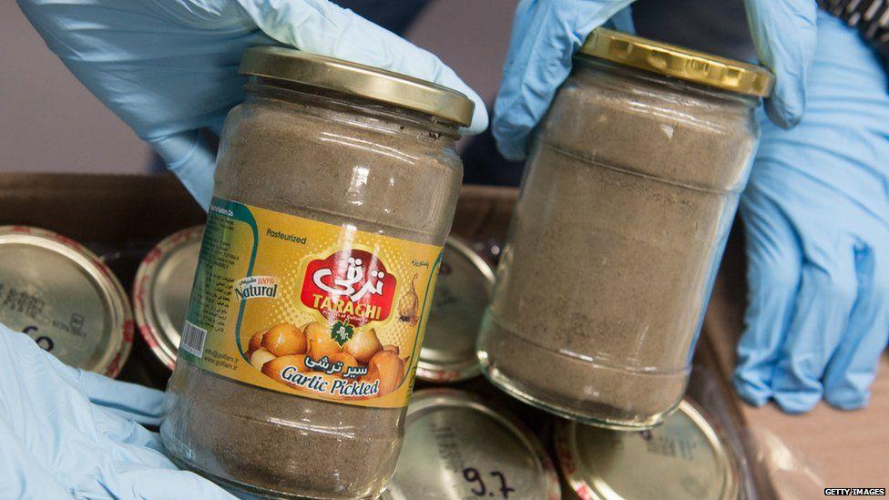 Drugs found in jars