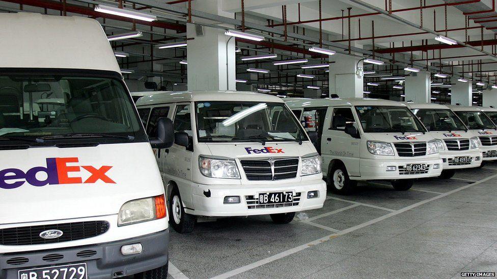 FedEx vans