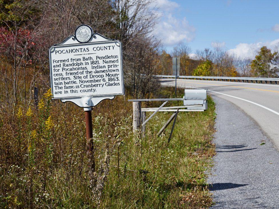 Pocahontas County sign