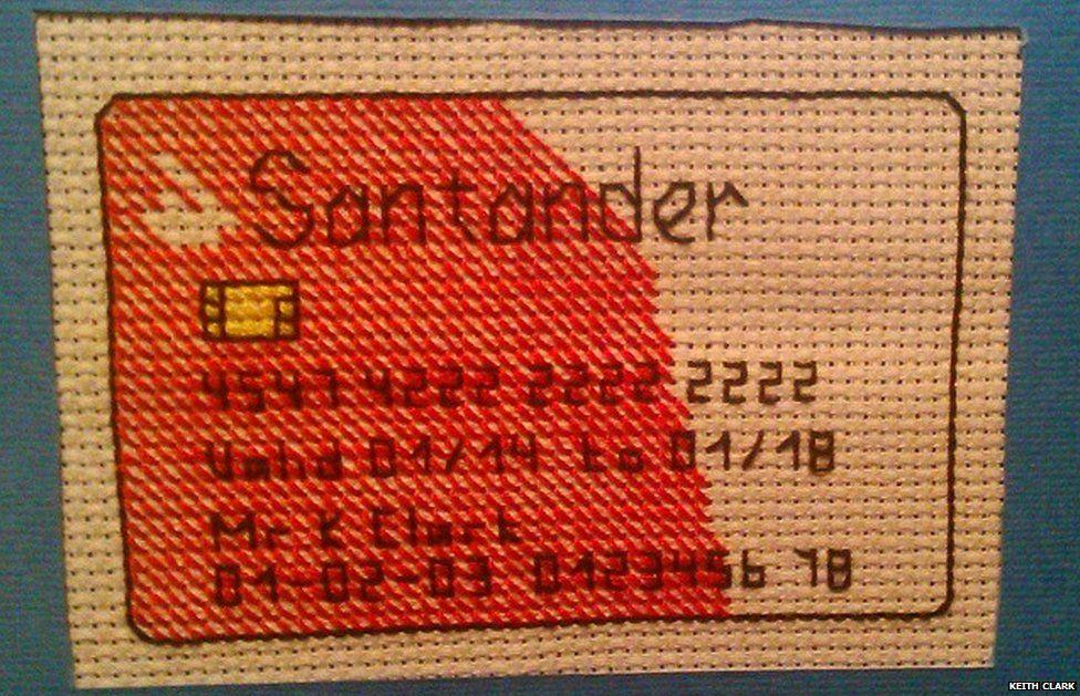 Santander stitched card