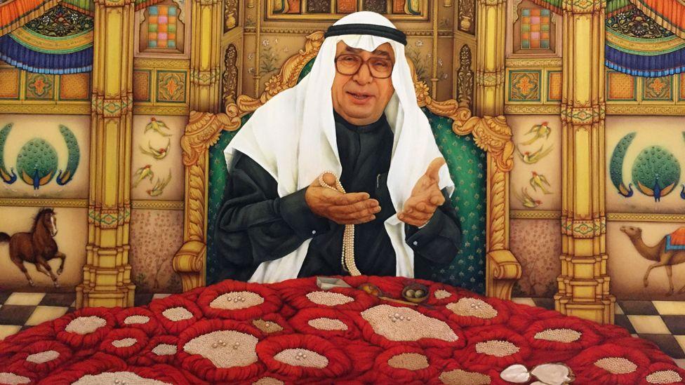 Hussein al Fardan and his pearl collection