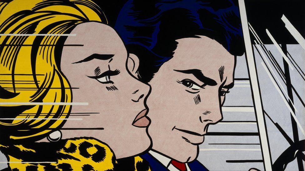 In the Car (1963), by Roy Lichtenstein
