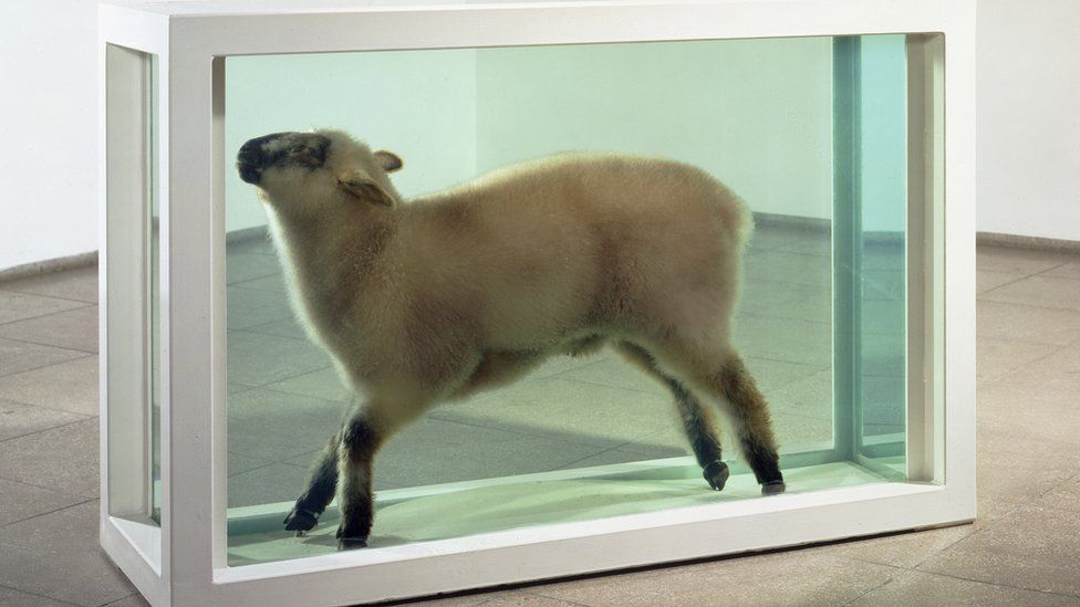Away From The Flock (1994), by Damien Hirst