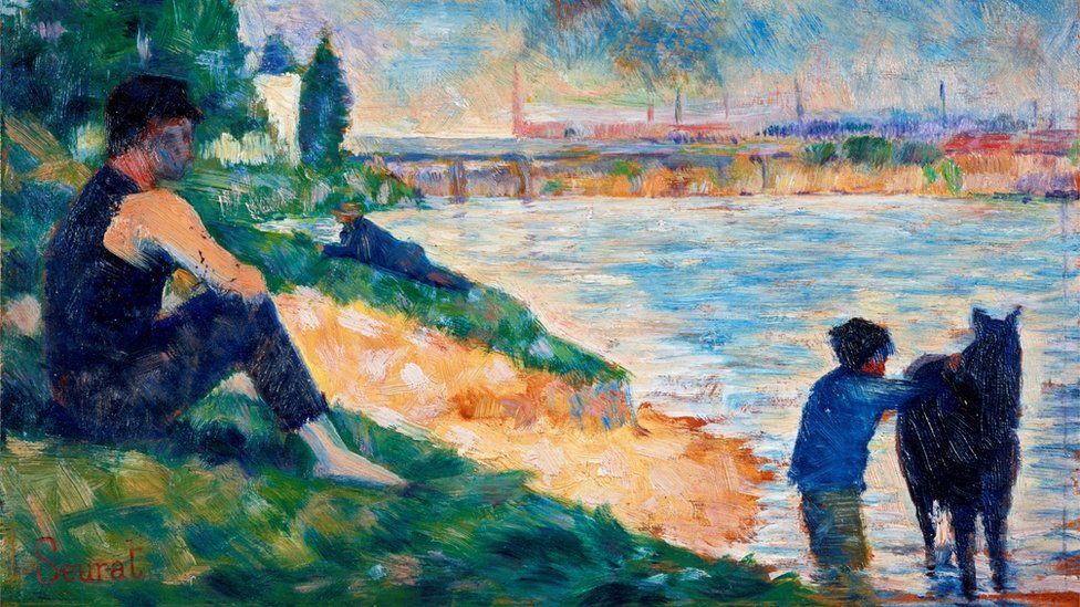 A Study for 'Une Baignade' (c. 1883), by Georges Seurat