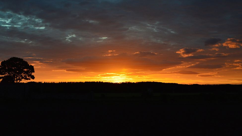 Sunset over Dirleton