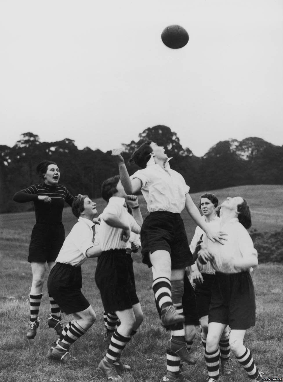 Preston Ladies training in 1939