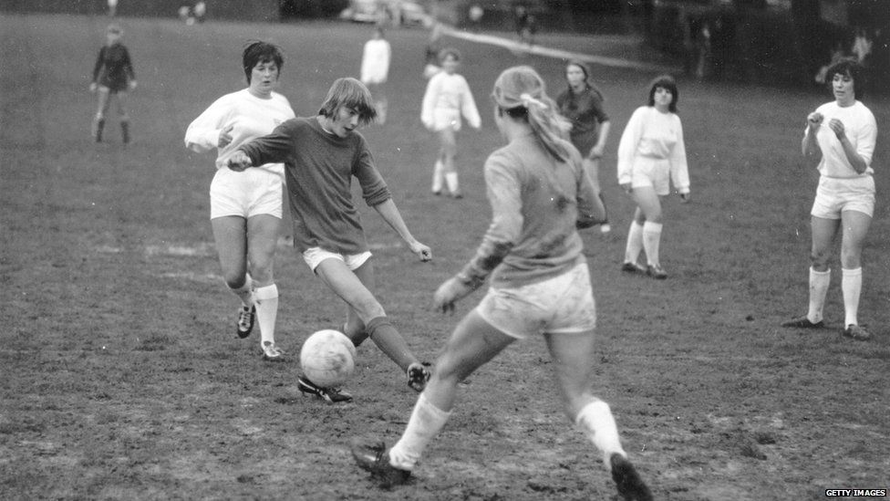 Girls playing in 1970