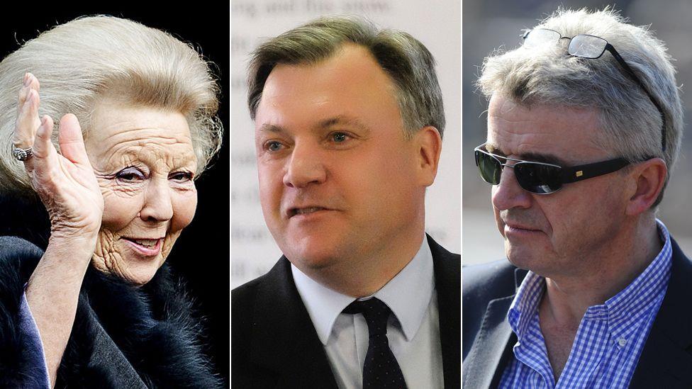 Princess Beatrix of Holland, Ed Balls and Michael O'Leary