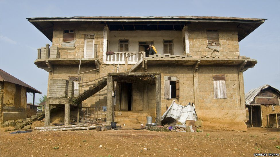 The house in Ngiehun which the rebel leader Foday Sankoh lived in during the civil war