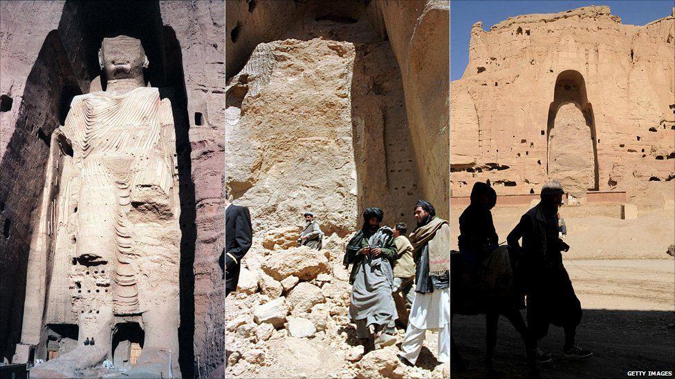 Bamiyan Buddha and empty alcove