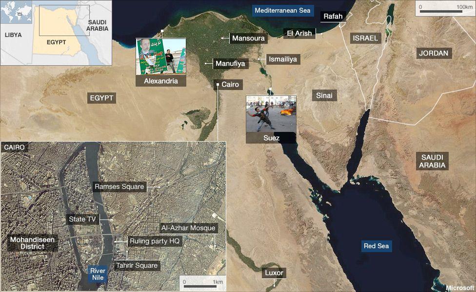 Egypt flashpoints