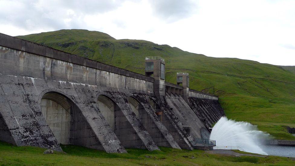 Reservoir releasing water
