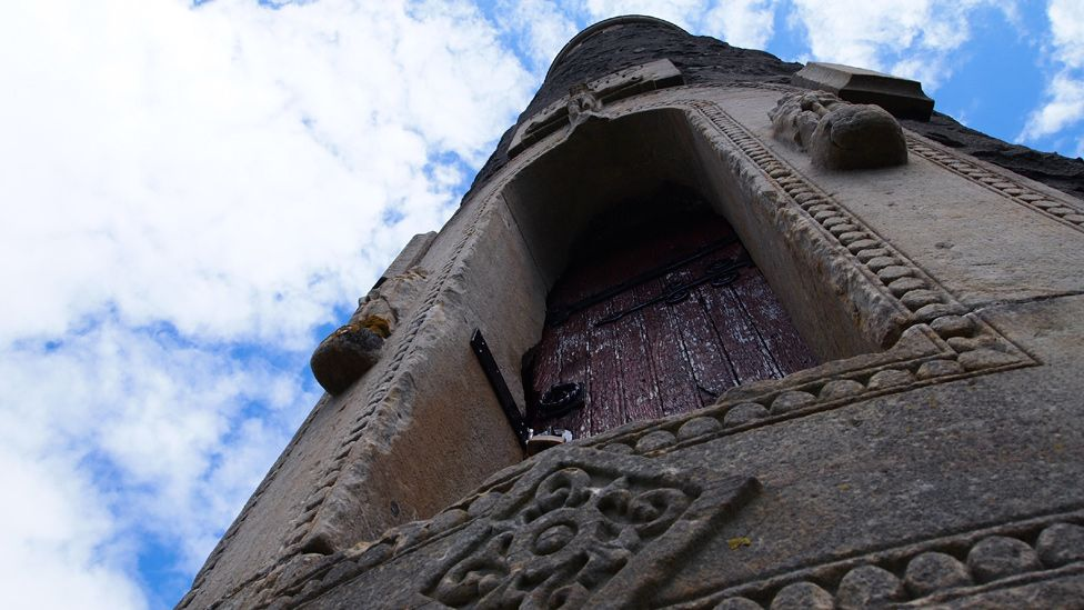 Door in a tower