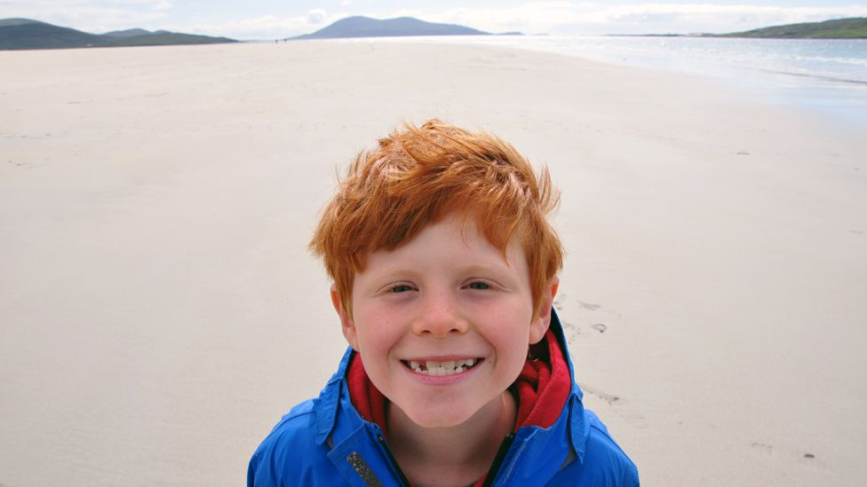 Jamie on Luskentyre beach