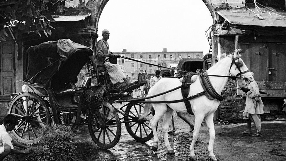 A Victoria - horse-drawn carriage - in Bombay central. (Photo: Pablo Bartholomew)