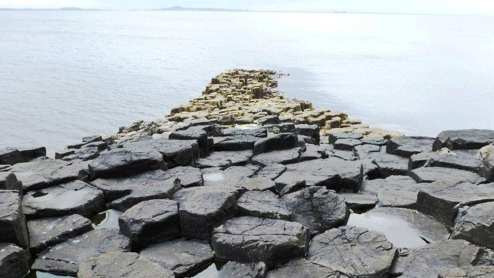 Rocks on the shore of the Isle of Staffa
