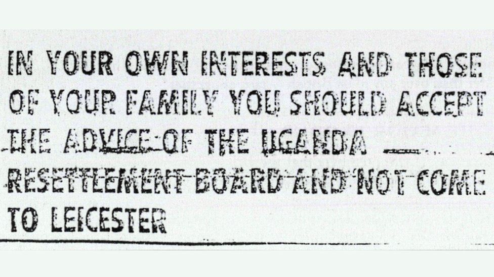 Second half of Leicester City Council advertisement in Ugandan Argus in 1970s