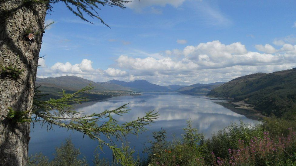 Herbie Acheson captured this image of Loch Carron after leaving Skye.