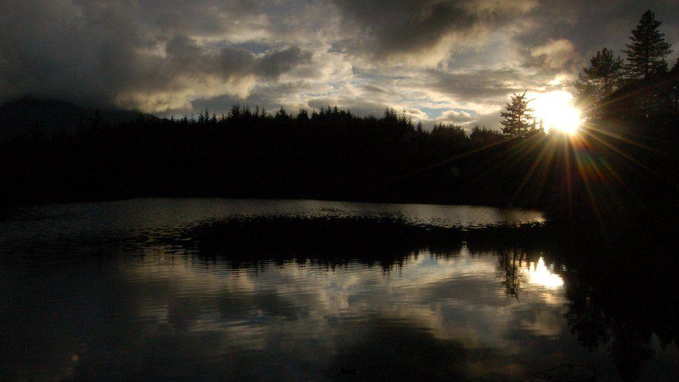 Sunset over Glencoe Lochan