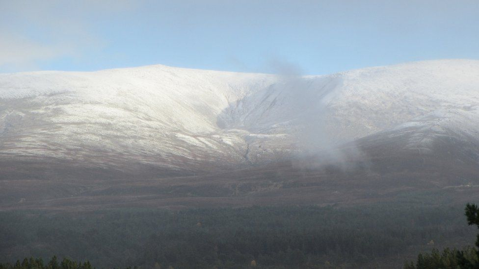 Snow on the Cairngorms