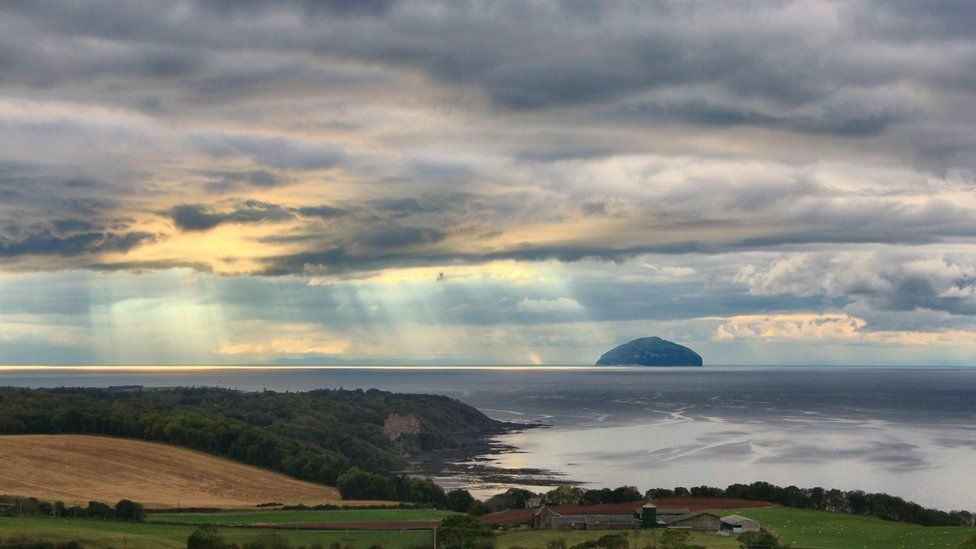Culzean Castle and Ailsa Craig